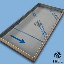 Vaschetta raccogli condensa in alluminio