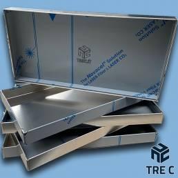 Vaschetta raccogli condensa in alluminio spessore 1,5mm